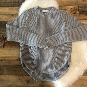ALC Scoop Hem Crew Neck Sweater